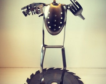 Recycled Upcycled Ned Kelly Metal Sculpture
