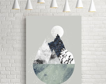 Art print, abstract art print, Nordic art, modern wall art, wall art, Scandinavian art, large art, wall art prints, gallery wall art giclee