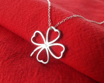 Pendant Sterling Silver four leav Clover of Good Luck