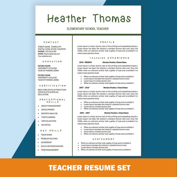 elementary resume cv templates teaching resume cover