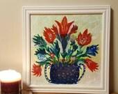 Reserved listing for KK. DO not purchase unless you are KK.  Turkish Tile - Original Framed Art