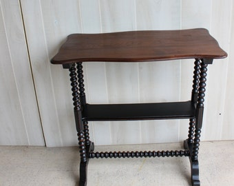Antique Spindle Table PRIMITIVE BLACK