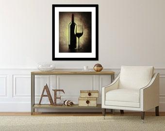 Kitchen Art, Wine Art, abstract kitchen art, earth tones, warm hues, rustic cream french, Fine Art, Still life Photography, Dining room art