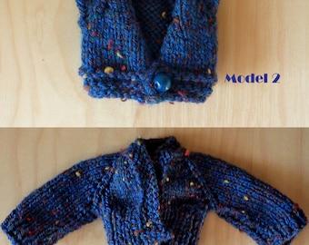Blue vest for Barbie - knit - fashion royalty