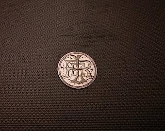 LT 1    Victorian love token.  Circa 1856 seated dime. love token