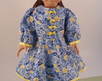 "Spring dress for American girl or 18"" dolls"