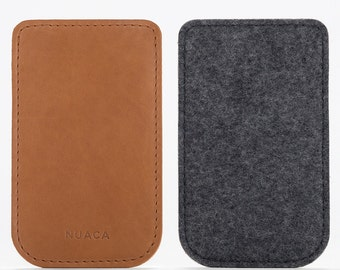 Leather Sleeve iPhone 5 - iPhone Case - iPhone Cover - iPhone 5s Leather - iPhone Felt Cover - Cell Phone Case - Felt leather Case
