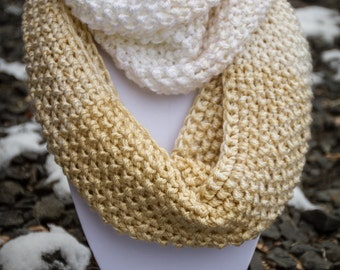 Handmade Knitted Infinity Scarf/Snood. free shipping