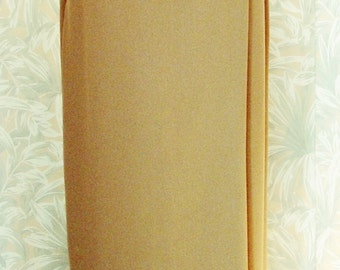 Semi Wrap Brown Maxi Skirt by Michele 100% Polyester Size 12-Vintage NEW- Made in U.S.A.