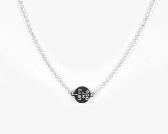 Sterling silver I love my dog necklace