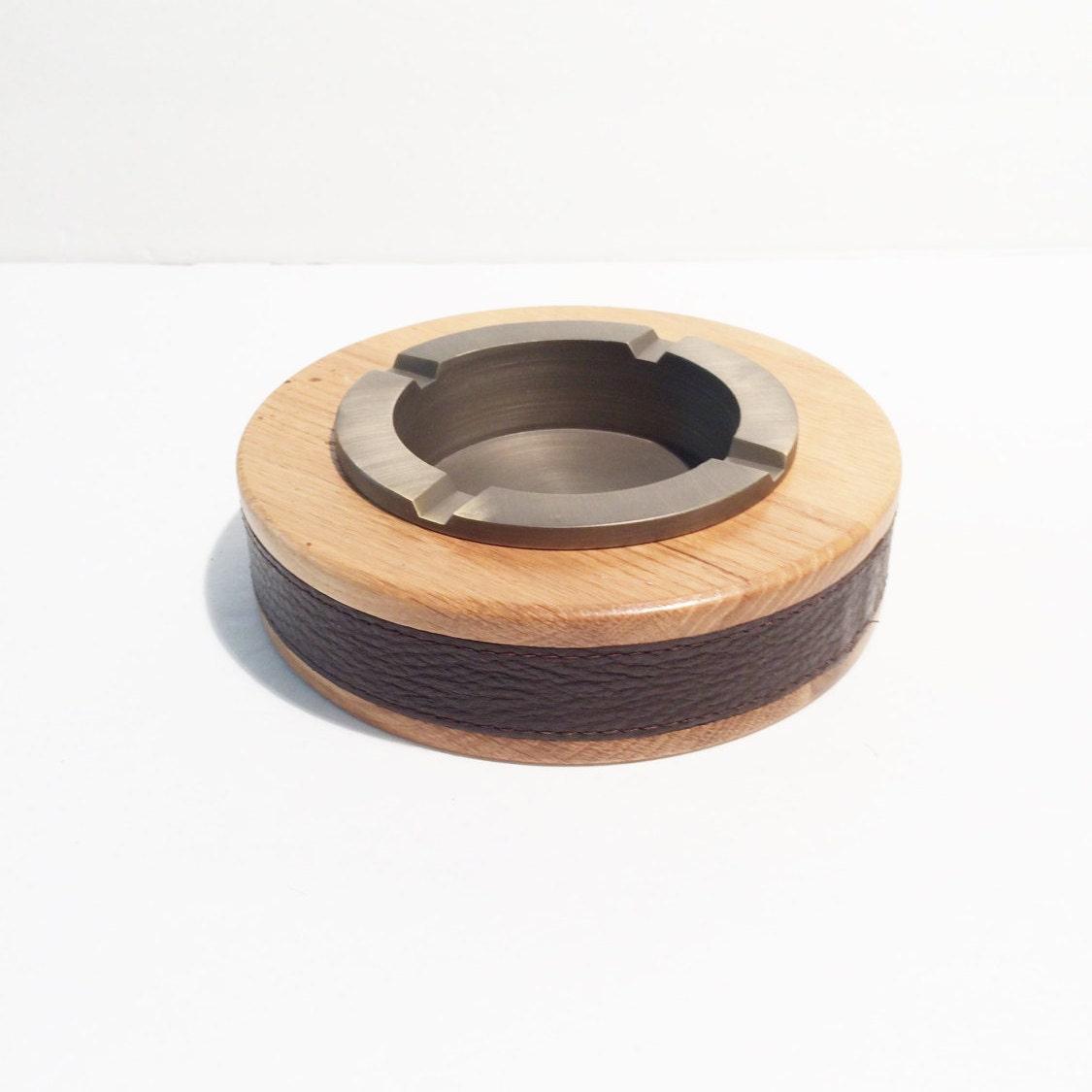 vintage wooden ashtray