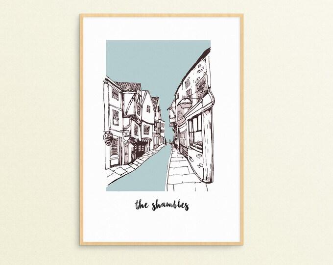 The Shambles, York Print - A3