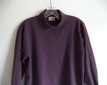 90's mock turtleneck// Boxy over sized hipster grunge top// Saint John's Bay vintage shirt// Women's size large