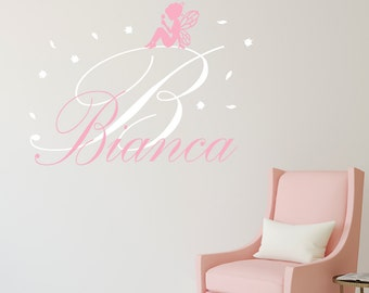 Fairy Wall Decal - Personalized Name Wall Decal - Fairy Girl Wall Art - Baby Nursery Decor - Custom Vinyl Wall Decal