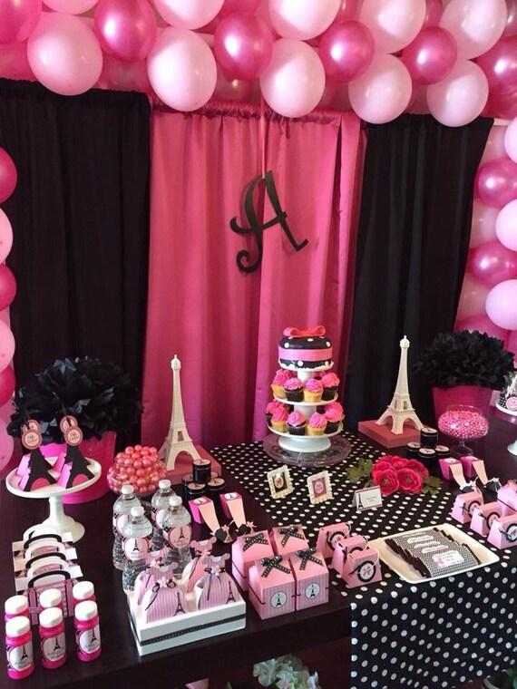Cumplea os paris fiesta paris decoraci n por kidspartydreams - Ideas para cumpleanos 10 anos ...
