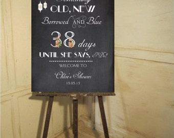 Bridal shower sign - chalkboard design