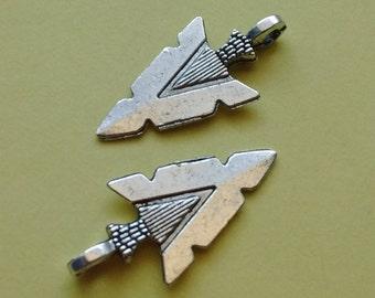 5 Arrowhead Charms Silver - CS2250