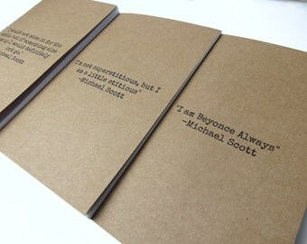 THE OFFICE US Quotes - Sketchbook, writing journal, notebook, cute diary, scrapbook, A5 journal