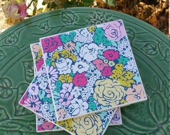 Flowers In Bloom Coasters - Set of Four