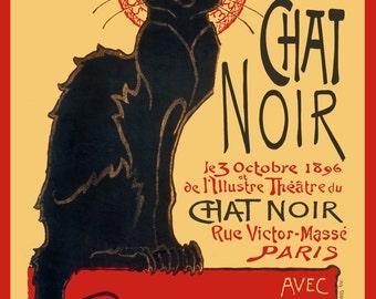 Le Chat Noir Classic Art Nouveau Poster