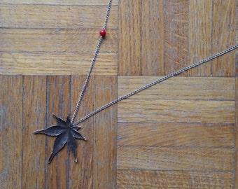 """Long necklace """"Momiji"""""""