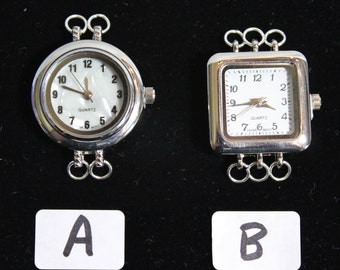 Silver Watch 2 and 3 Loop Watch Faces for Interchangeable Watch Bracelet