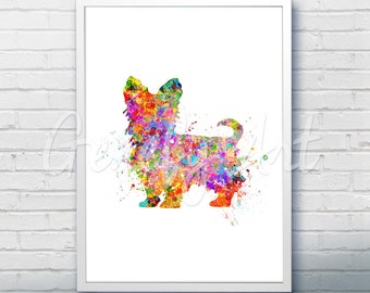 Yorkie Dog Watercolor Art Print  - Watercolor Painting - Yorkie Dog Watercolor Art Painting - Yorkie Poster - Home Decor -House Warming Gift