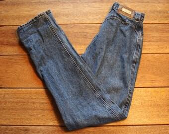 Vintage High Waisted Jeans, Size 5 or 25 Vintage Denim Lawmen Western