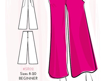 Simple Sew Palazzo Trousers Sewing Pattern (Capsule Collection) UK 8-20