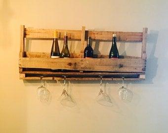 Reclaimed Wood Pallet Wine Rack
