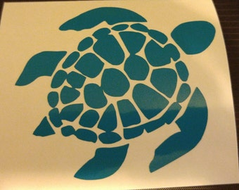 Sea Turtle Decal - permanent vinyl - perfect for beach decor, car windows, Yeti & Rtic tumbler cups, coolers etc.