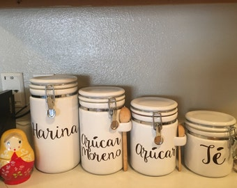 Canister Labels
