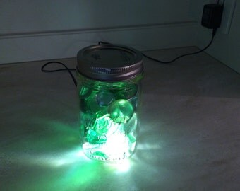 Green Glass accent lamp.