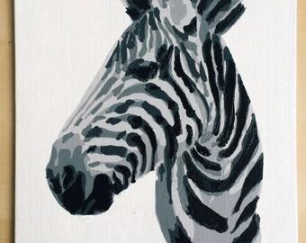 Zebra Stencil Painting