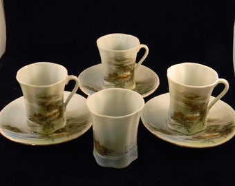Eggshell Porcelain Tea Cups and Saucers