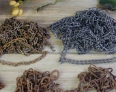 Metal Chains Variety for Creative Crafts, Assemblage, Altered Art Projects, Steampunk Supplies, Costume Supply, Rustic Jewelry #7-25