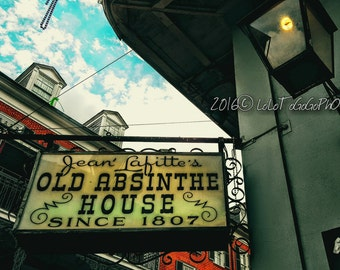 New Orleans Photography, New Orleans Famous Places, Jean Lafitte's Old Absinthe House, New Orleans Art, French Quarter Photography, NOLA