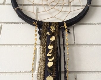 Black and Gold Dreamcatcher