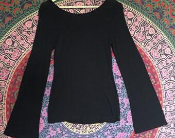 Classic Bell Sleeve Top // Back Bell Sleeve Shirt