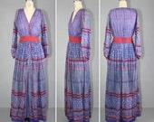 1970s / india dress / festival dress / ANOHKI vintage bohemian maxi dress