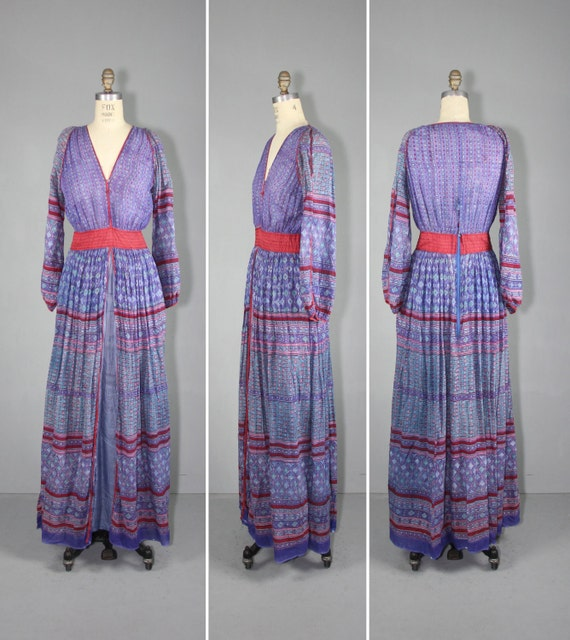 Sunshine Cruz Wedding Gown: 1970s / India Dress / Festival Dress / ANOHKI Vintage Bohemian