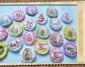 Pastell Ostern Krepp Papierblumen