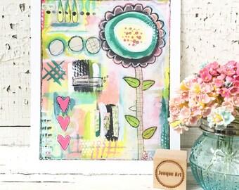 Everyday Beauty Mixed Media Art Print - 2 sizes available