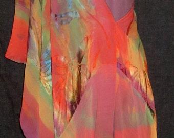 Vibrant silk rayon Bodyscarf