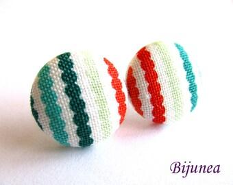 Stripes earrings - Stripe stud earrings - Stripes posts - Stripes studs - Stripes post earrings sf1288