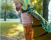 Green Dragon Costume for Kids  - Dragon Wings - Dragon costume for Kid Christmas - Holiday Gift Kids