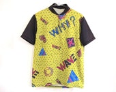 WHY Neon 80s 90s Cycling Jersey Memphis Design Haring Sydney Sandy Wave Medium