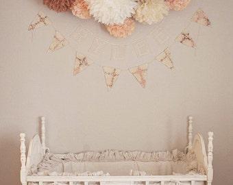 NURSERY POMS / 15 tissue paper pom poms / wedding decorations / diy / baby shower decor / neutral decorations / party poms / pompoms / poms