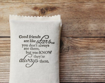 Long Distance Friendship Gift - Good Friends Are Like Stars Lavender Sachet - Birthday Gifts for Women