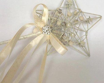 Flower Girl, Wand, wedding wand, fairy wand, butterfly wand, princess wand, butterfly, flower girl gift, wedding fairy, crystal wand